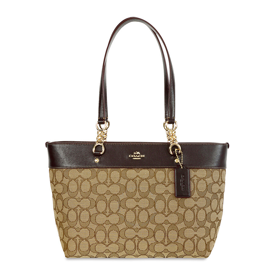 Coach Sophia Small Tote- Light Gold/Khaki Brown Item No. 37118-LIC7C