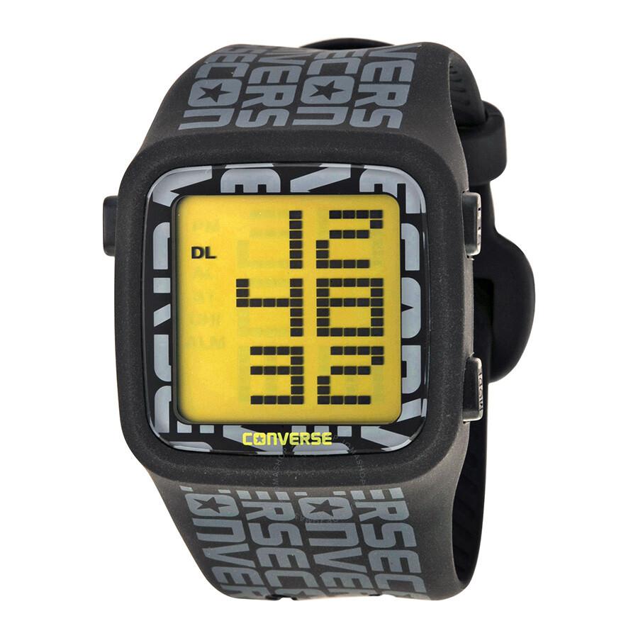 8888d06436cc9a Converse Digital C Scoreboard Black Rubber Men s Watch 002-020 ...