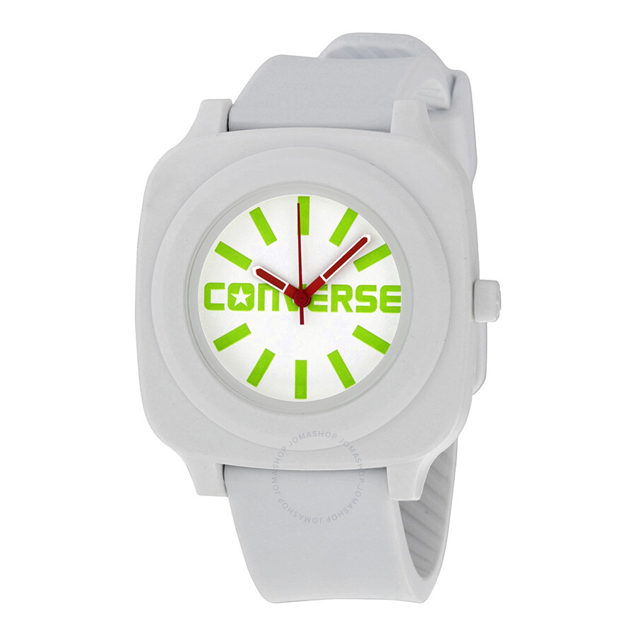 1bd0ca2232acdc Converse Keeper White Dial White Rubber Unisex Watch VR-032-100 ...