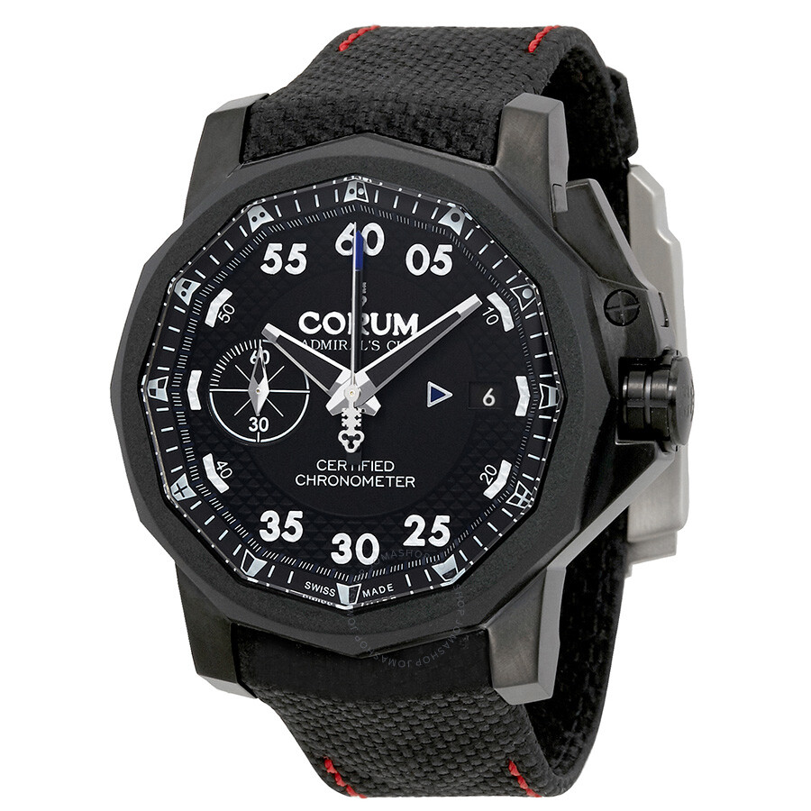 corum admiral s cup black dial automatic men s watch a96103114