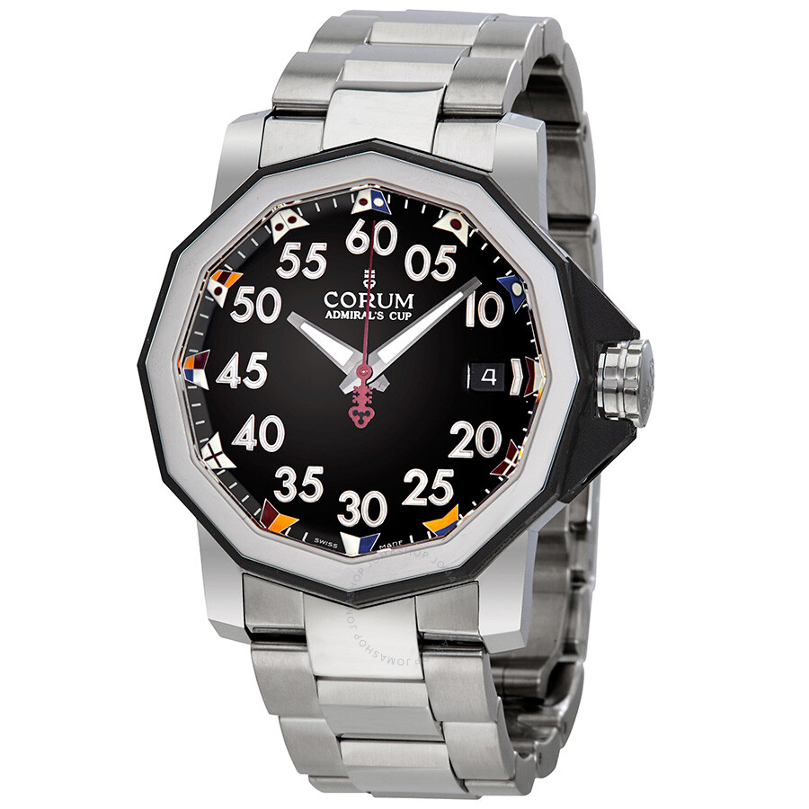 Corum admiral 39 s cup automatic black dial men 39 s watch a082 03375 admirals cup corum watches for Corum watches