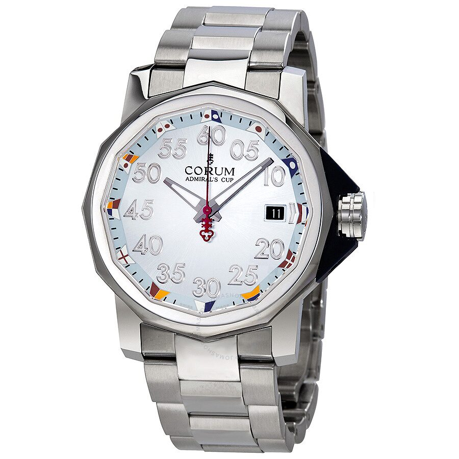 corum admiral s cup light blue dial stainless steel automatic corum admiral s cup light blue dial stainless steel automatic men s watch