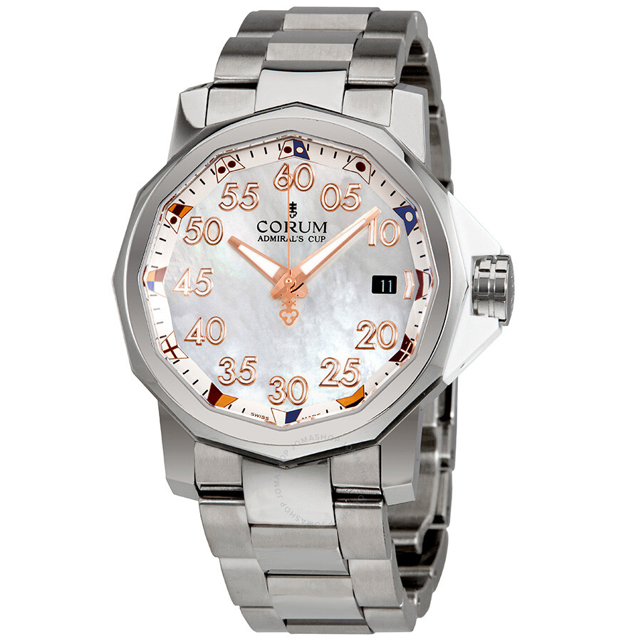 Corum admiral 39 s cup mother of pearl dial automatic men 39 s watch a082 03378 admirals cup corum for Corum watches