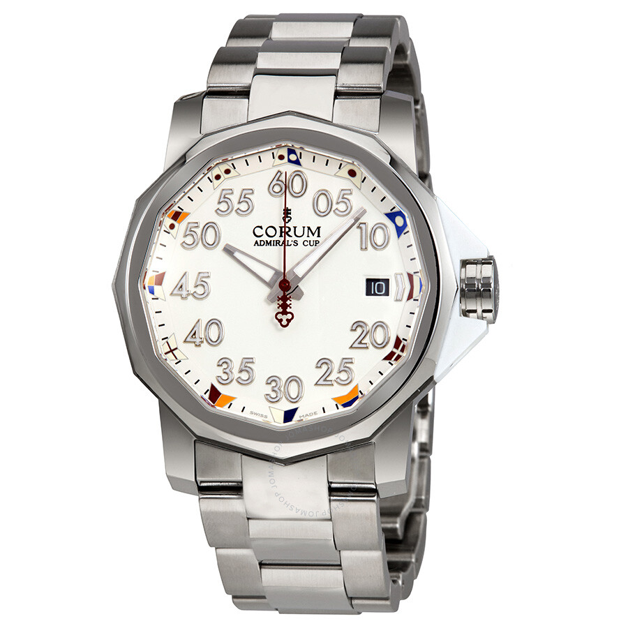 Corum admiral 39 s cup automatic white dial men 39 s watcha082 03374 admirals cup corum watches for Corum watches