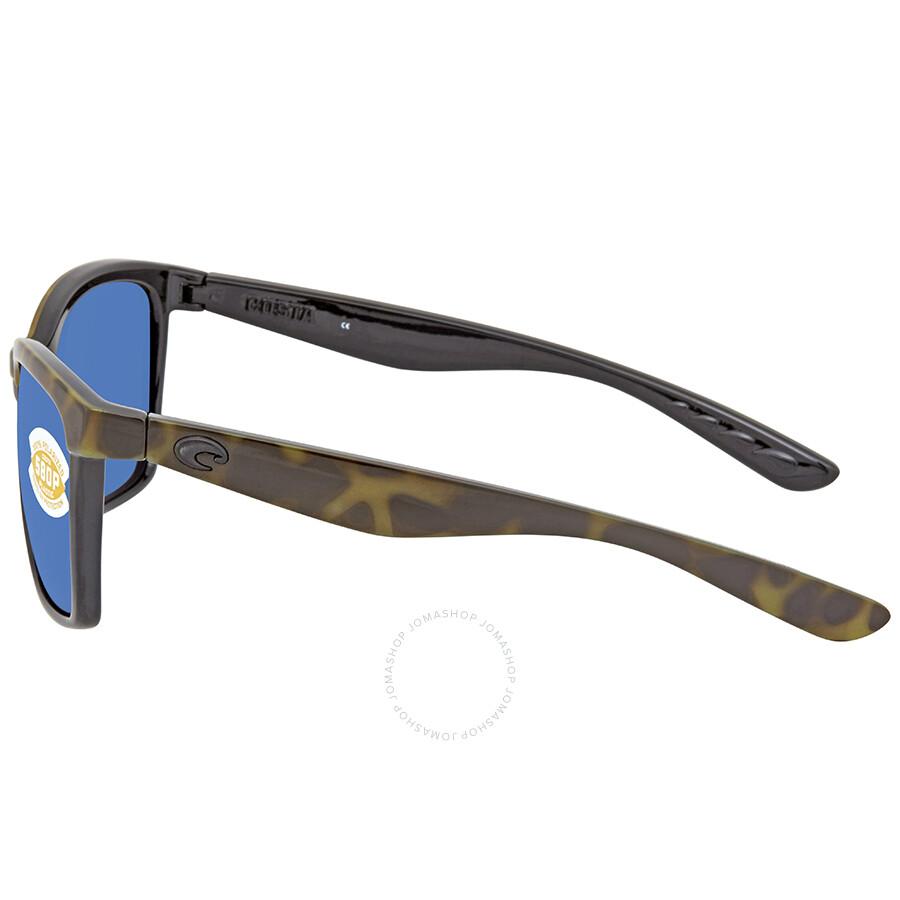 2b03a72222 Costa Del Mar Anaa Blue Mirror 580P Square Sunglasses ANA 109 OBMP ...