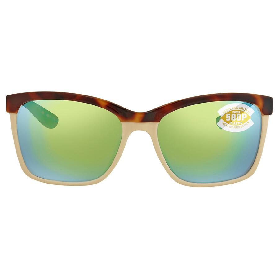 affc3b5233 ... Costa Del Mar Anaa Green Mirror Polarized Square Sunglasses ANA 105 OGMP  ...