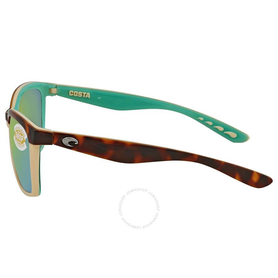 4b2678fe3d ... Costa Del Mar Anaa Green Mirror Polarized Square Sunglasses ANA 105 OGMP
