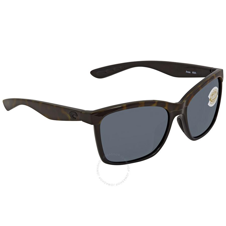 0dc032ad27 Costa Del Mar Anaa Grey 580P Square Sunglasses ANA 109 OGP - Costa ...