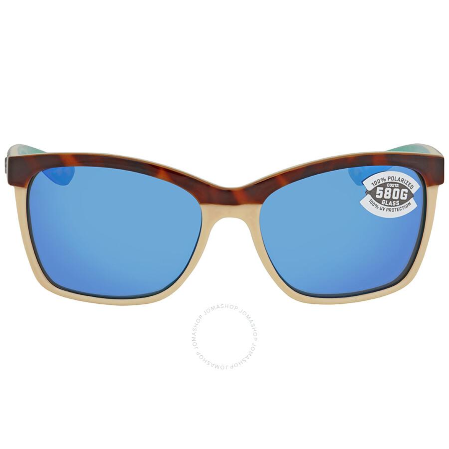 6b907691537 ... Costa Del Mar Anaa Blue Mirror Glass 580 Square Sunglasses ANA 105  OBMGLP ...