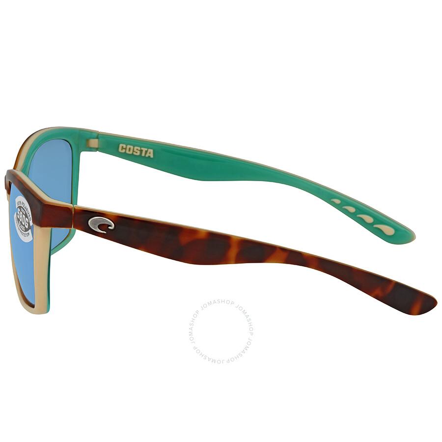 01636c94eba ... Costa Del Mar Anaa Blue Mirror Glass 580 Square Sunglasses ANA 105  OBMGLP