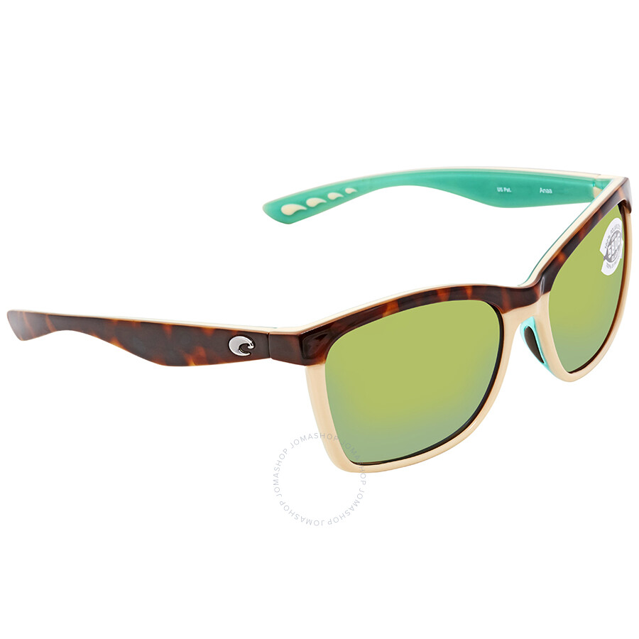 c4bdc4596c Costa Del Mar Anaa Medium Fit Green Mirror Glass - W580 Square Sunglasses  ANA 105 OGMGLP ...