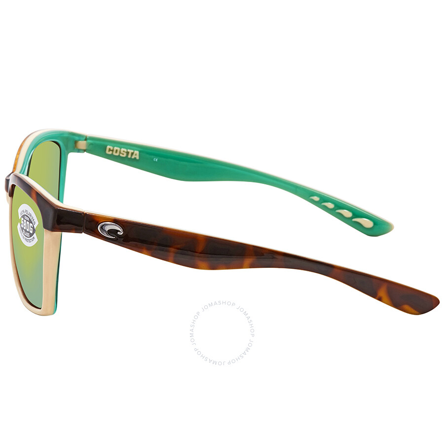0ee4a70a19 ... Costa Del Mar Anaa Medium Fit Green Mirror Glass - W580 Square Sunglasses  ANA 105 OGMGLP