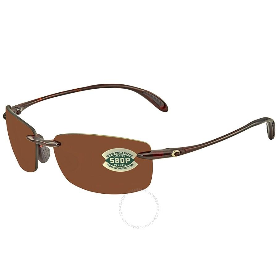 ffc86cb2dd Costa Del Mar Ballast Medium Fit Copper 580P C-Mate 1.50 Rectangular  Sunglasses BA 10 ...