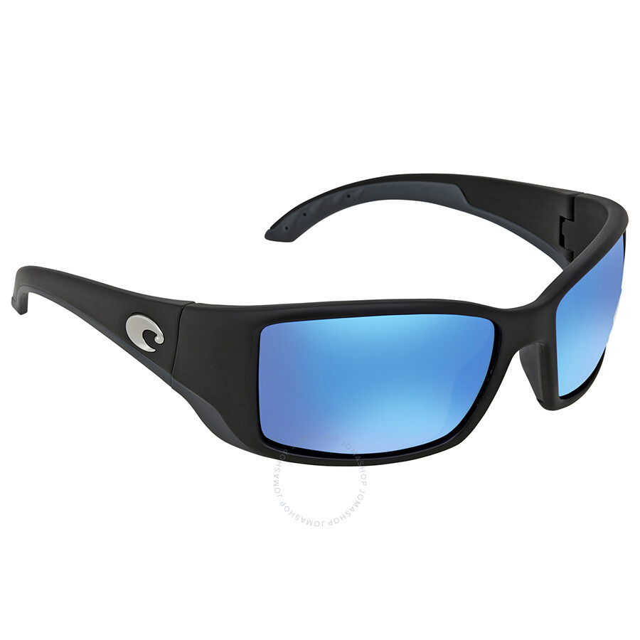 1d1e05990f0e5 Costa Del Mar Blackfin Blue Mirror 580G Polarized Rectangular Sunglasses BL  11 OBMGLP Item No. BL 11 OBMGLP