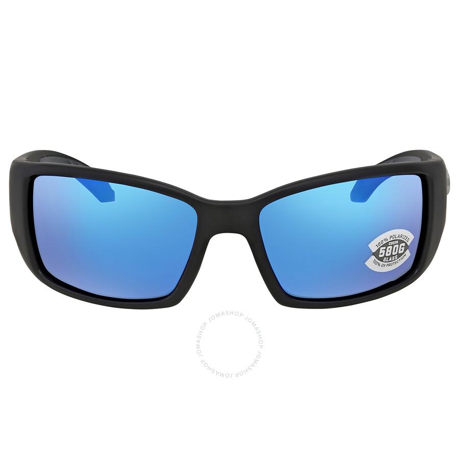 9b5bc88d06 ... Costa Del Mar Blackfin Blue Mirror 580G Polarized Rectangular Sunglasses  BL 11 OBMGLP ...