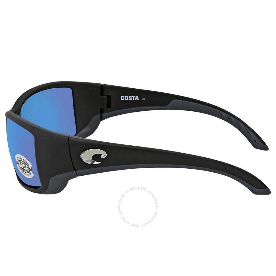 b9b4f97f21 ... Costa Del Mar Blackfin Blue Mirror 580G Polarized Rectangular  Sunglasses BL 11 OBMGLP
