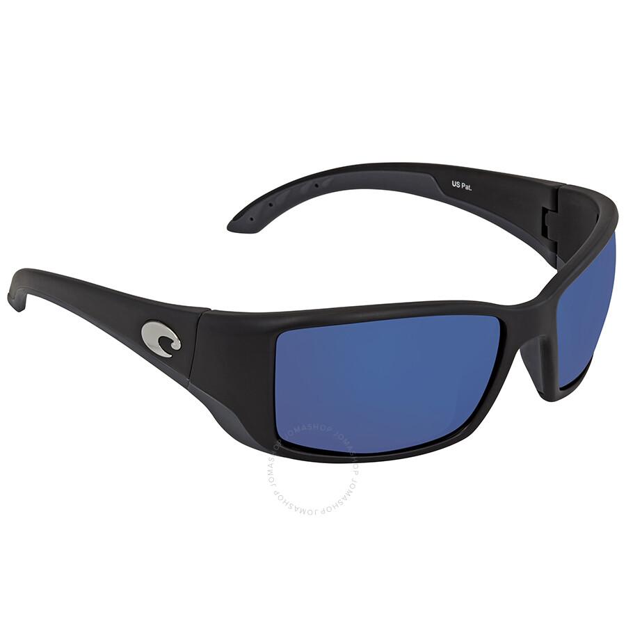 ab74208402 Costa Del Mar Blackfin Blue Mirror 580P Rectangular Sunglasses BL 11 OBMP  Item No. BL 11 OBMP