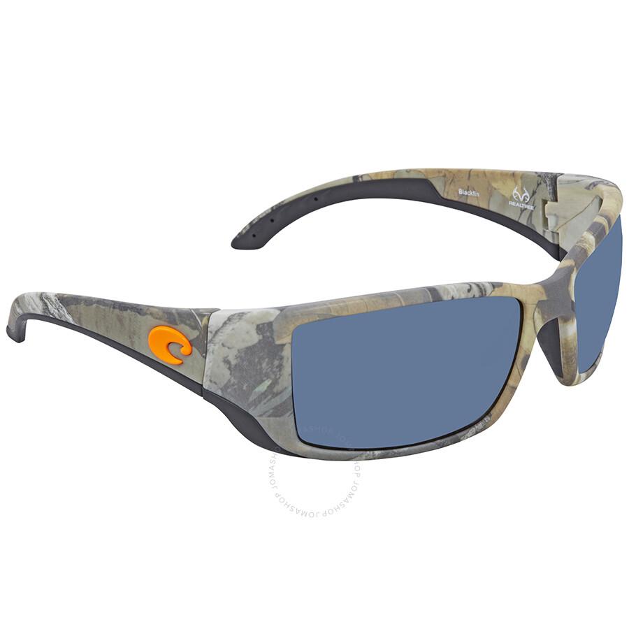 bc22f22a2a6 Costa Del Mar Blackfin Gray Polarized Rectangular Sunglasses BL 69 OGP Item  No. BL 69 OGP