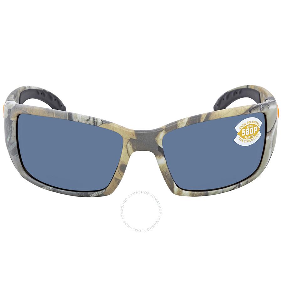570ce2e95f0 ... Costa Del Mar Blackfin Gray Polarized Rectangular Sunglasses BL 69 OGP  ...