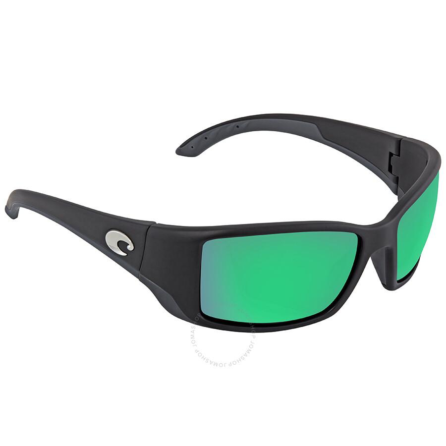 97a69c2332 Costa Del Mar Blackfin Green Mirror Polarized Glass Large Fit Sunglasses BL 11  OGMGLP ...