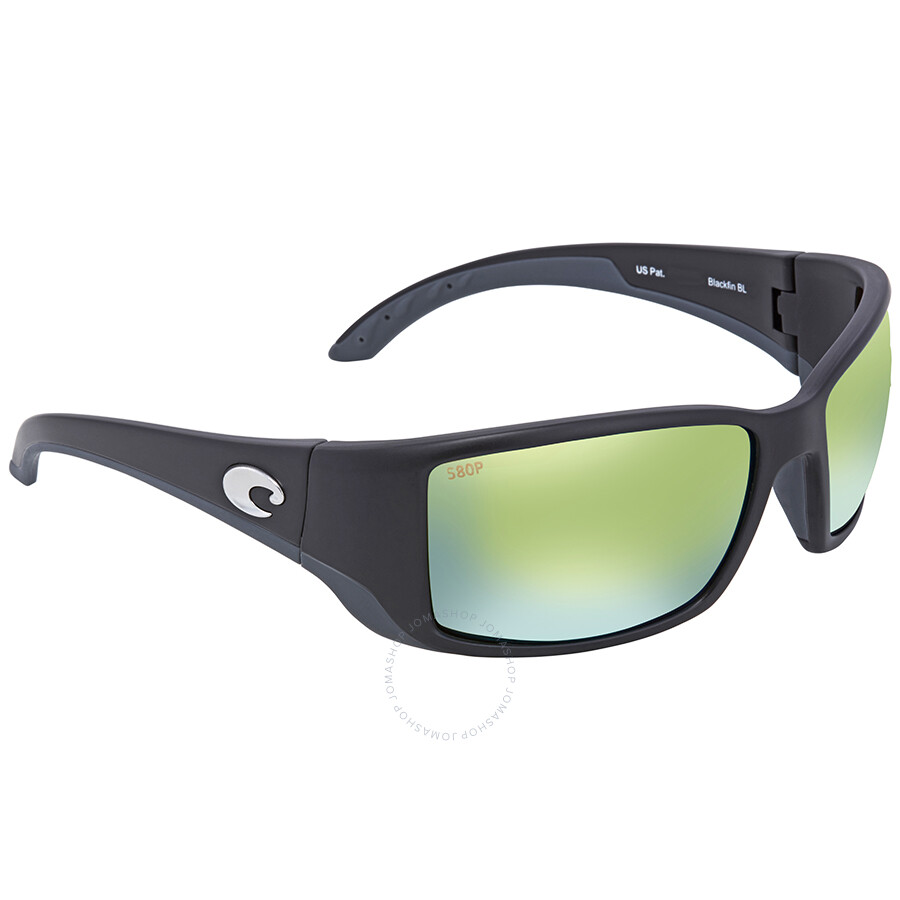 a75ded5b724f8 Costa Del Mar Blackfin Green Mirror Rectangular Sunglasses BL 11 OGMP Item  No. BL 11 OGMP