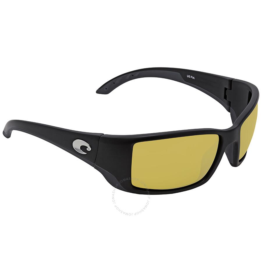 acaa5814221d1 Costa Del Mar Blackfin Sunrise Silver Mirror 580P Rectangular Sunglasses BL  11 OSSP Item No. BL 11 OSSP