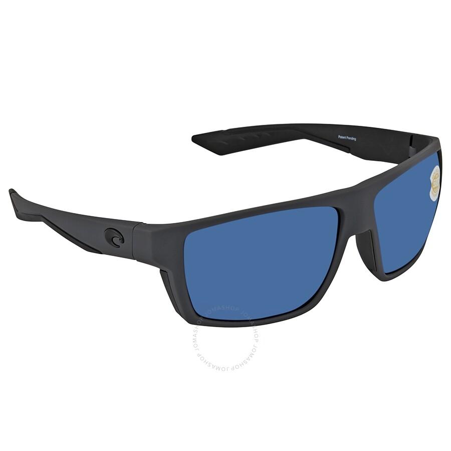 a3d164d521 Costa Del Mar Bloke Blue Mirror Polarized Plastic Men s Sunglasses BLK 127  OBMP ...