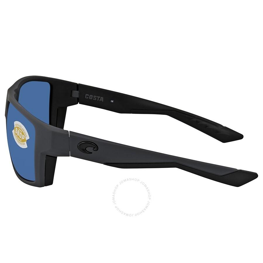 79ff508b7f3 ... Costa Del Mar Bloke Blue Mirror Polarized Plastic Men s Sunglasses BLK  127 OBMP