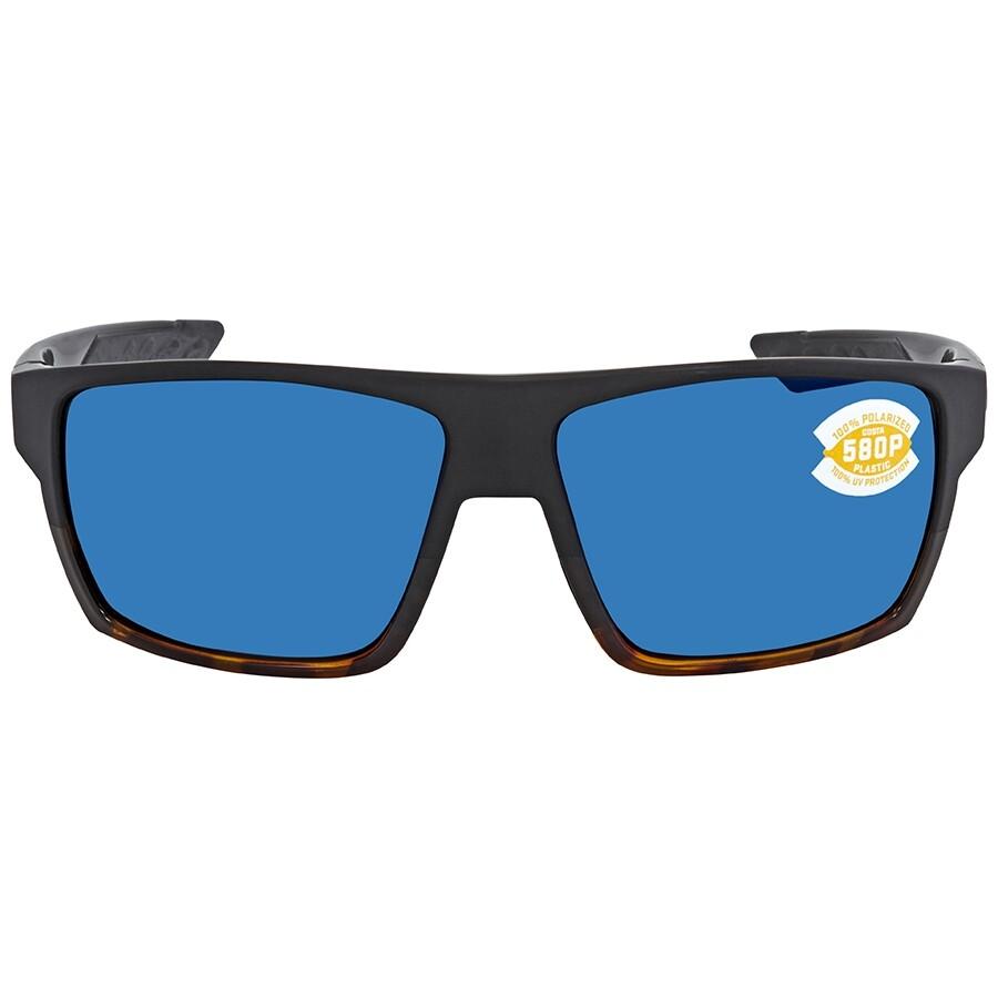 311bd1e358 ... Costa Del Mar Bloke Blue Mirror Polarized Plastic Rectangular Men s  Sunglasses BLK 181 OBMP ...