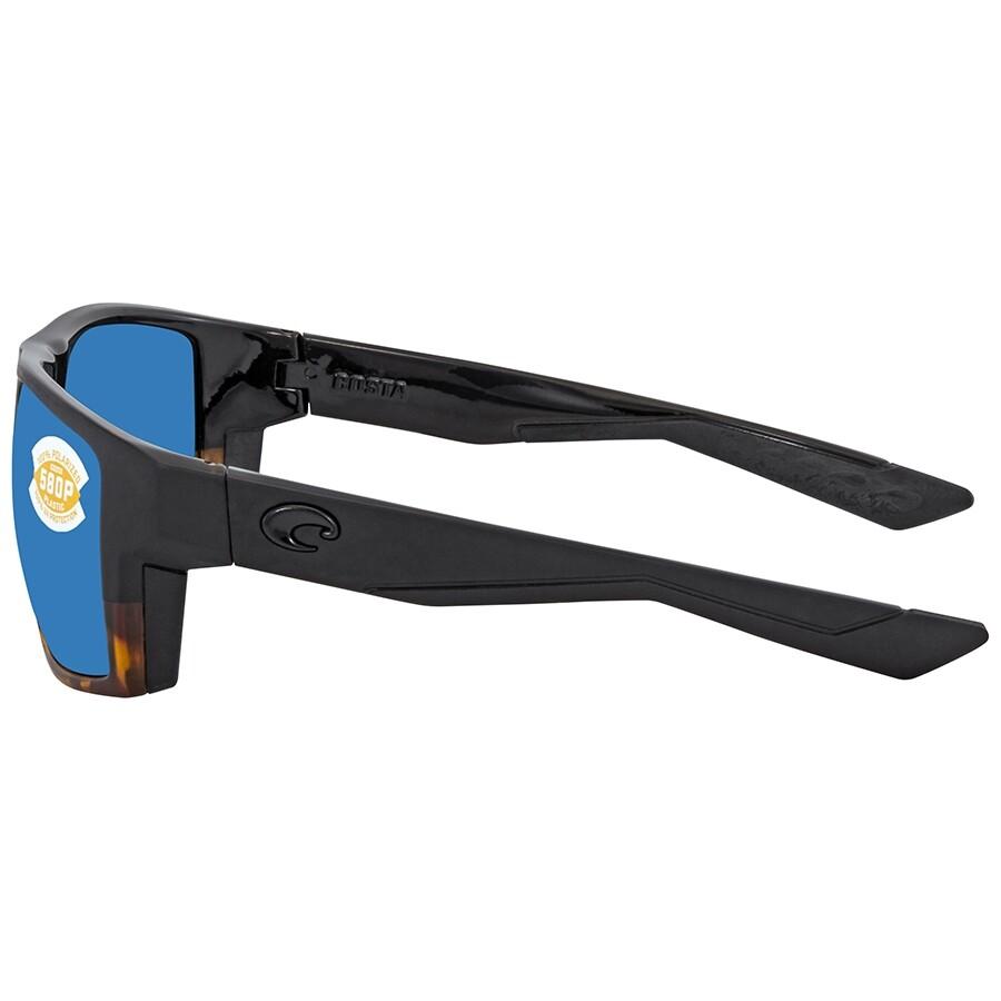4c2f04d0d9 ... Costa Del Mar Bloke Blue Mirror Polarized Plastic Rectangular Men s  Sunglasses BLK 181 OBMP