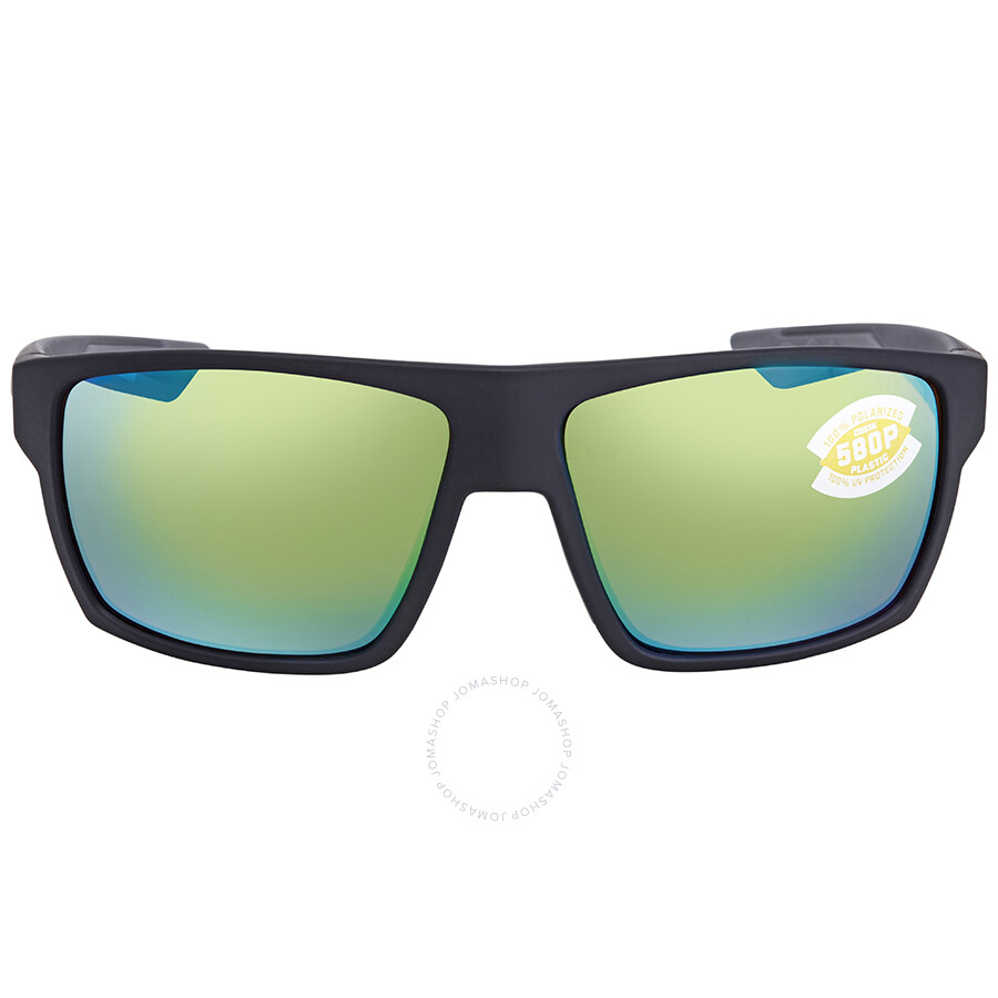 ec925380b7159 ... Costa Del Mar Bloke Green Mirror 580P Rectangular Sunglasses BLK 124  OGMP ...