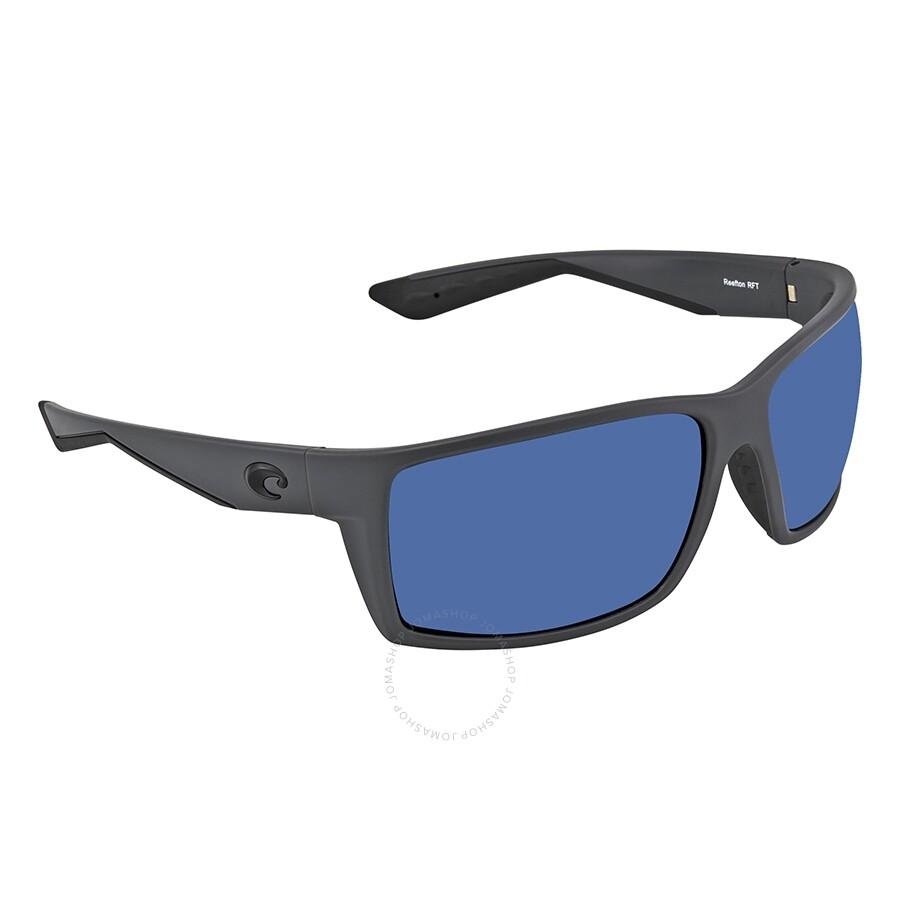 a3ad09f5ebe Costa Del Mar Blue Mirror Polarized Plastic Rectangular Sunglasses Item No.  RFT 98 OBMP