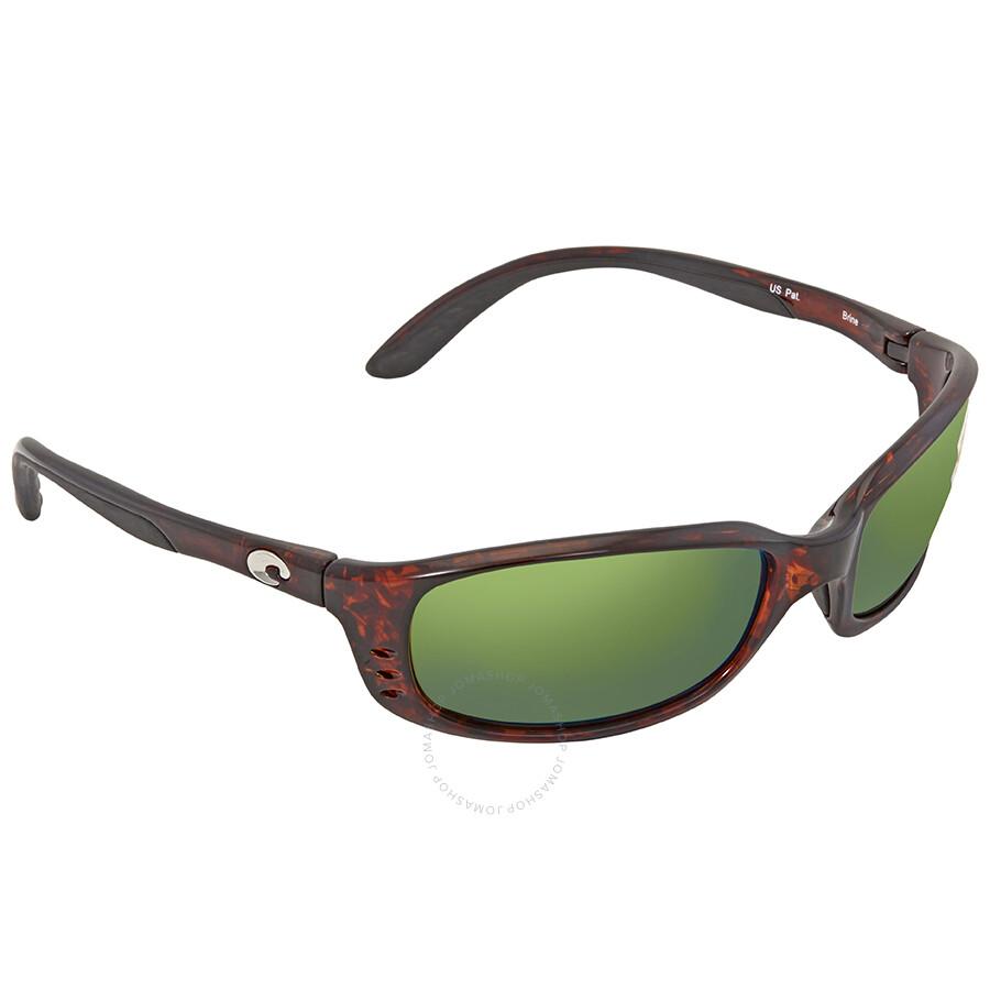 f99b2af04f79b Costa Del Mar Brine Green Mirror 580P Polarized Wrap Sunglasses BR 10 OGMP  Item No. BR 10 OGMP