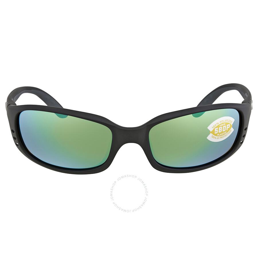 318acd7aa5ce0 ... Costa Del Mar Brine Green Mirror 580P Polarized Wrap Sunglasses BR 11  OGMP ...