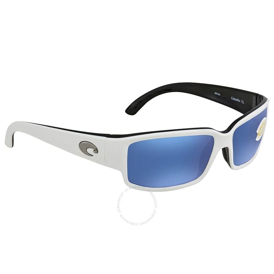 3e04d54fe7 Costa Del Mar Caballito Blue Mirror 580P Polarized Rectangular Sunglasses  CL 30 OBMP ...