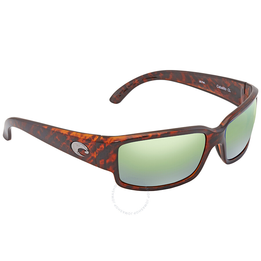 7e94d76d3e Costa Del Mar Caballito Green Mirror 580P Polarized Wrap Sunglasses CL 10  OGMP Item No. CL 10 OGMP