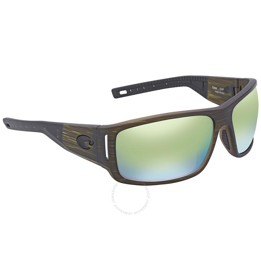 9dec2bdd35 Costa Del Mar Cape Green Mirror Rectangular Sunglasses CAP 189 OGMP Item  No. CAP 189 OGMP