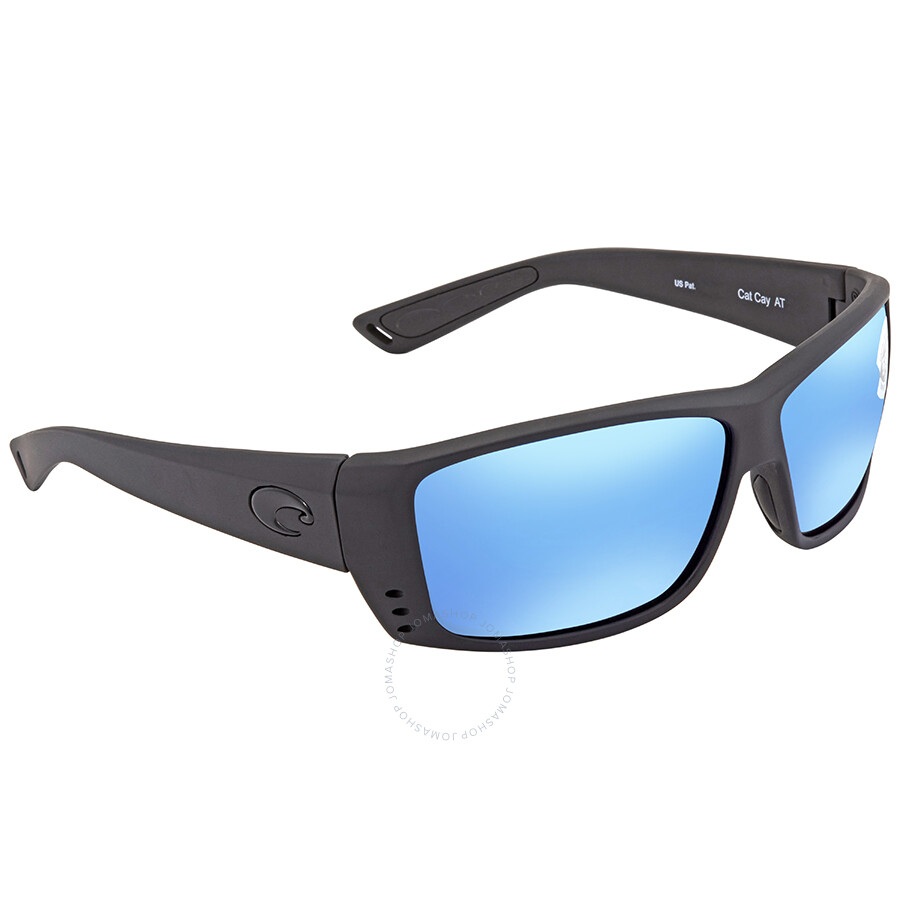 944a90c9da Costa Del Mar Cat Cay Blue Mirror 580G Polarized Rectangular Sunglasses AT  01 OBMGLP Item No. AT 01 OBMGLP