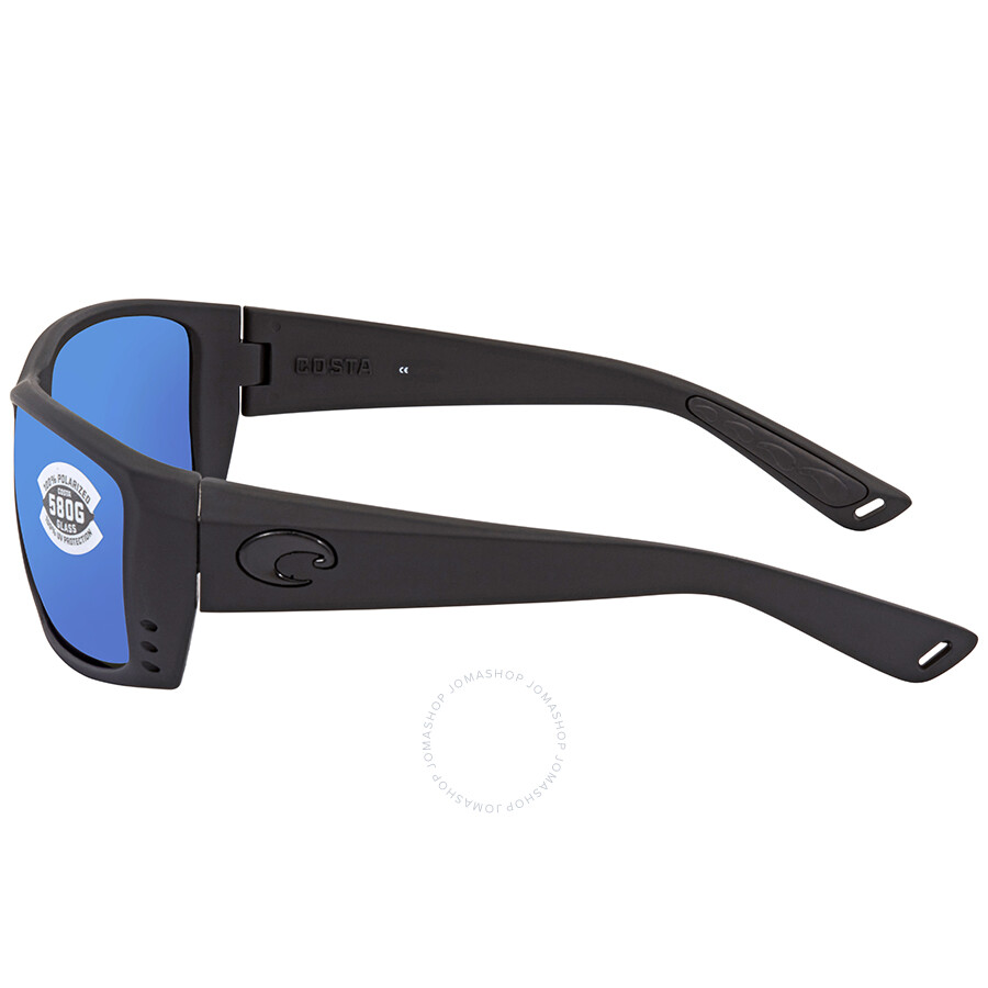 61bf4c0286 ... Costa Del Mar Cat Cay Blue Mirror 580G Polarized Rectangular Sunglasses  AT 01 OBMGLP