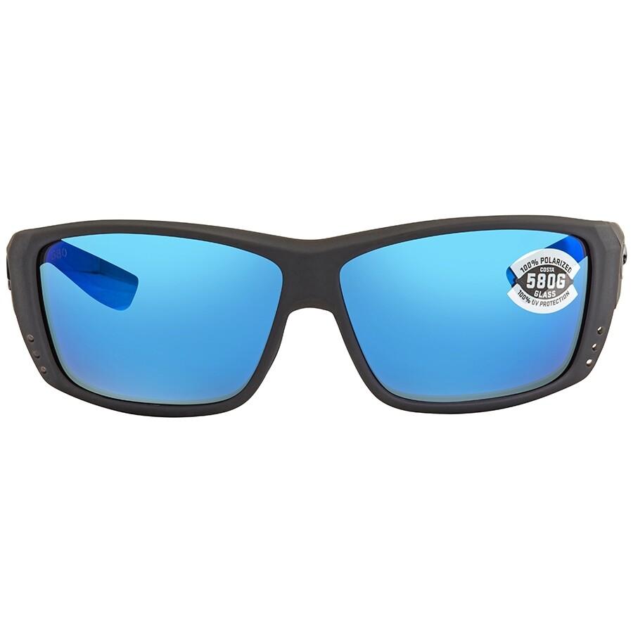 68a94d387468 ... Costa Del Mar Cat Cay Blue Mirror 580G Polarized Wrap Men's Sunglasses  AT 98 OBMGLP ...