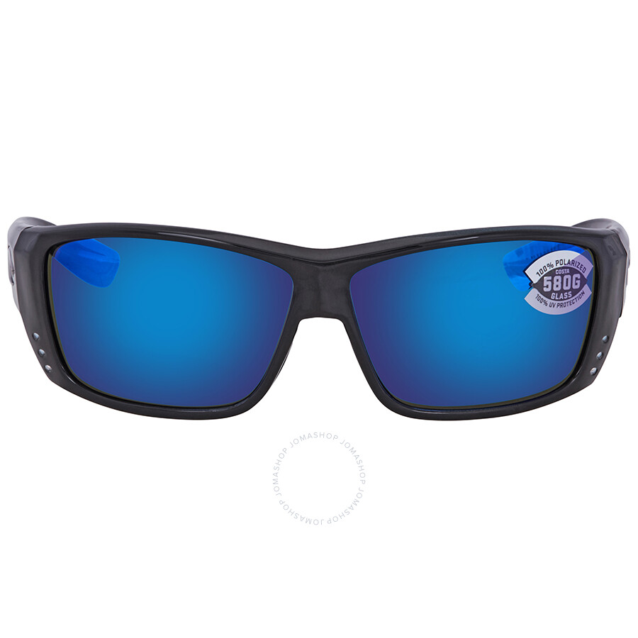 4b8696208a ... Costa Del Mar Cat Cay Blue Mirror Polarized Glass Rectangular Sunglasses  AT 11 OBMGLP ...