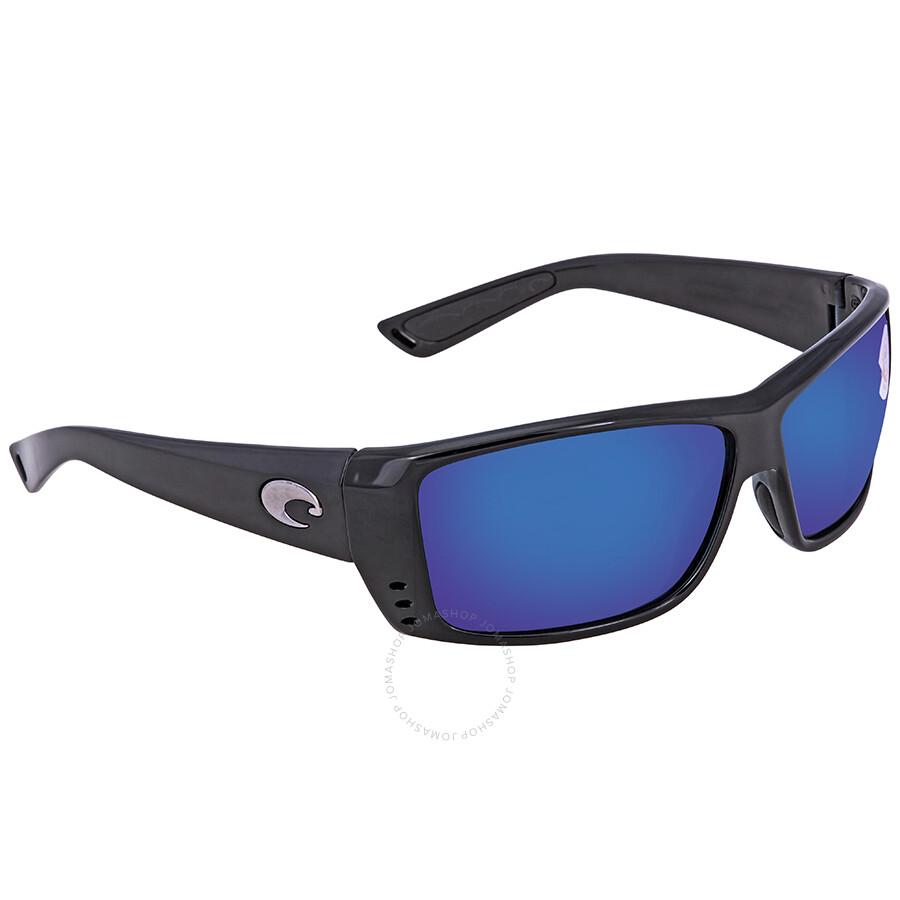 f60bc21c37 Costa Del Mar Cat Cay Blue Mirror Polarized Plastic Rectangular Sunglasses  AT 11 OBMP ...