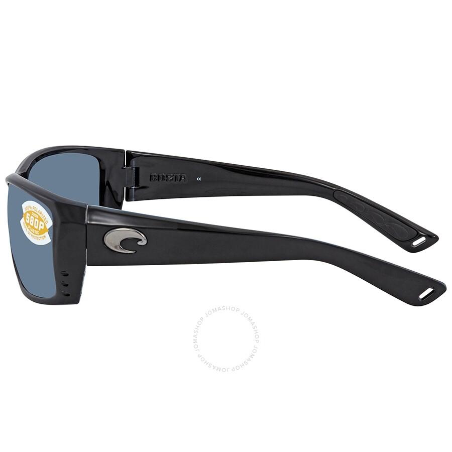 f6a2f6d7190 ... Costa Del Mar Cat Cay Gray 580P Rectangular Unisex Sunglasses AT 11 OGP
