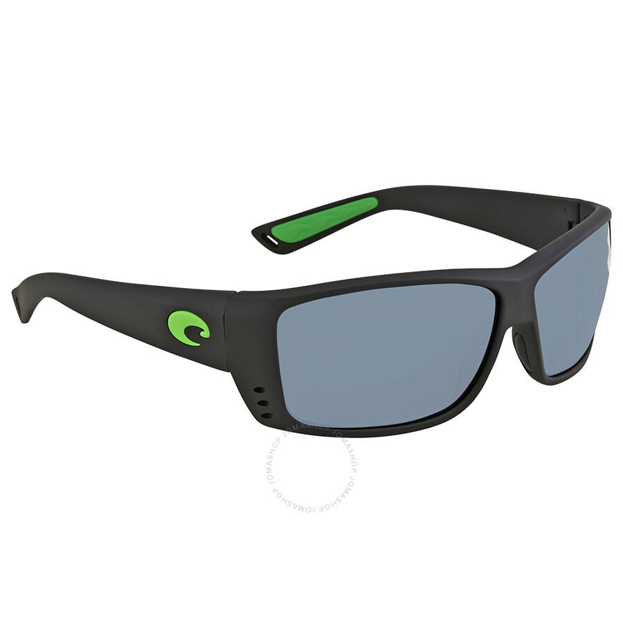 b890a2d477d4 Costa Del Mar Cat Cay Grey Silver Mirror Rectangular Sunglasses AT 200 OSGP  Item No. AT 200 OSGP