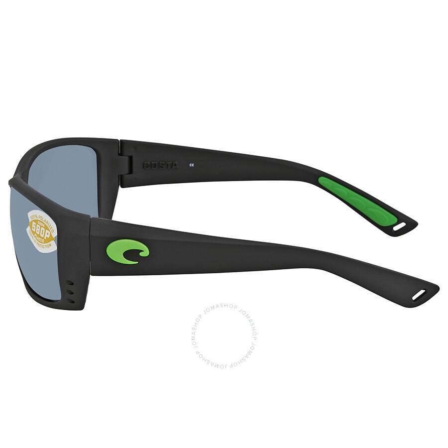 627eca77ab ... Costa Del Mar Cat Cay Grey Silver Mirror Rectangular Sunglasses AT 200  OSGP