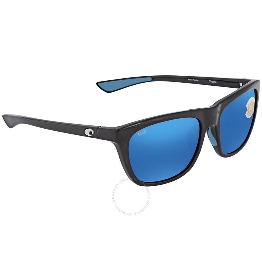 cefd9b421ead Costa Del Mar Cheeca Blue Mirror 580P Polarized Rectangular Ladies  Sunglasses CHA 11 OBMP Item No. CHA 11 OBMP
