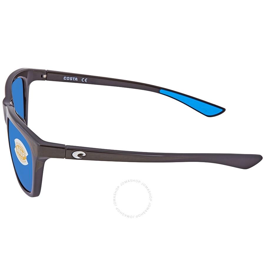 9792ea3eded7 ... Costa Del Mar Cheeca Blue Mirror 580P Polarized Rectangular Ladies  Sunglasses CHA 11 OBMP
