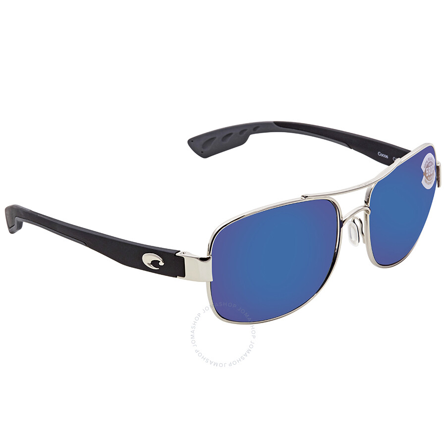 e45d7c9e3e Costa Del Mar Cocos Blue Mirror 580P Aviator Sunglasses CC 21 OBMP ...