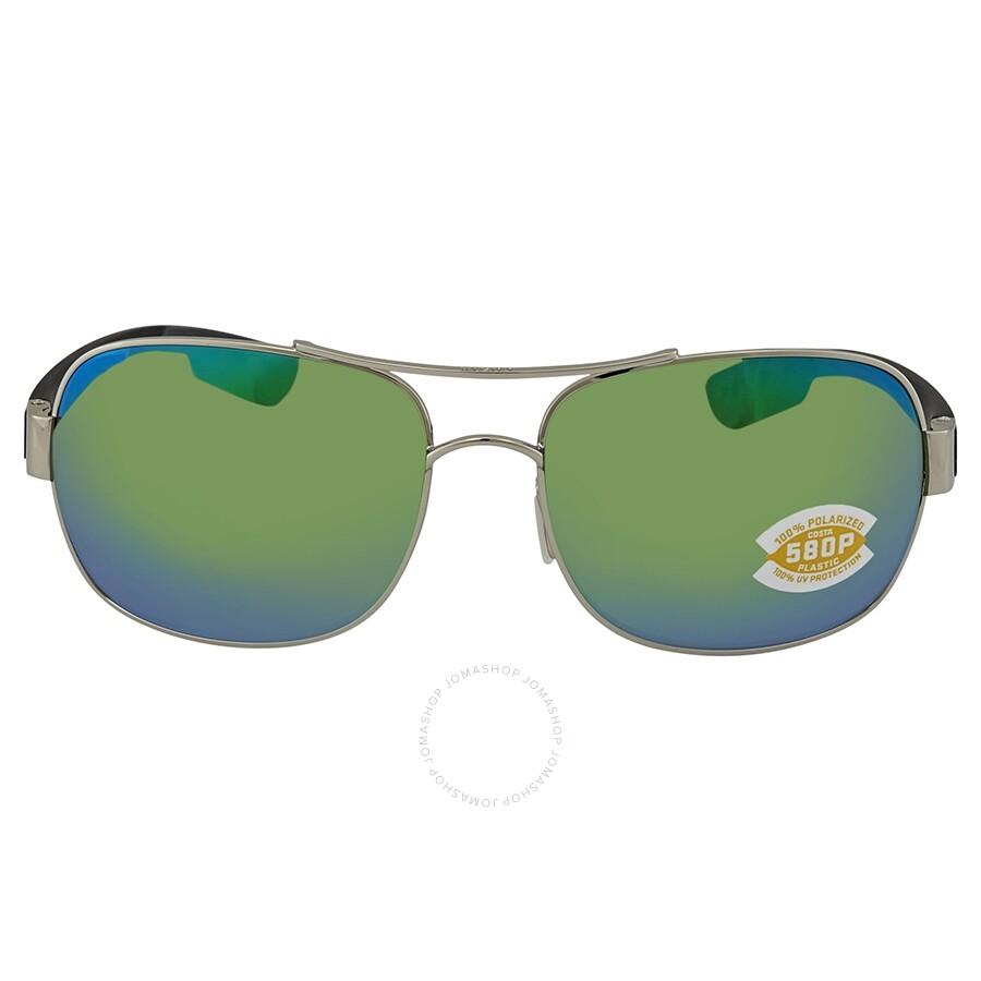 2a80944ee28fd ... Costa Del Mar Cocos Green Mirror Polarized Plastic Aviator Sunglasses  CC 21 OGMP ...