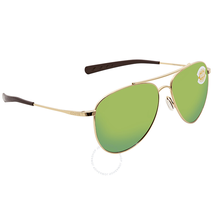 dc1e3d2854 Costa Del Mar Cook Green Mirror 580P Aviator Sunglasses COO 126 OGMP Item  No. COO 126 OGMP
